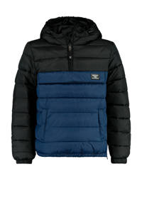 America Today Junior gewatteerde winterjas Jero donkerblauw/zwart, Donkerblauw/zwart