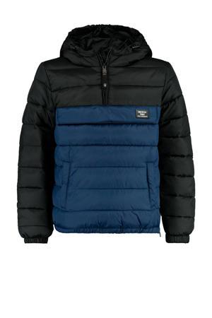 gewatteerde winterjas Jero donkerblauw/zwart