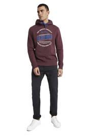 Tom Tailor hoodie met printopdruk aubergine, Aubergine