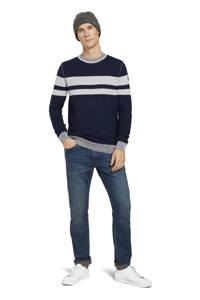 Tom Tailor gestreepte trui donkerblauw/grijs, Donkerblauw/grijs