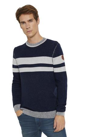 gestreepte trui donkerblauw/grijs