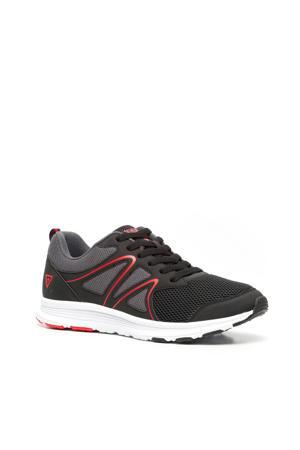 hardloopschoenen zwart/grijs/rood