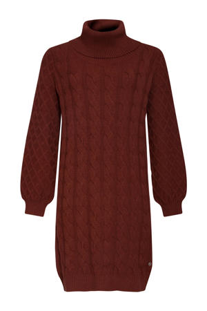 gebreide jurk donkerrood