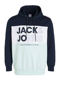 JACK & JONES PLUS SIZE hoodie met logo Plus Size lichtblauw/wit/donkerblauw, Lichtblauw/wit/donkerblauw