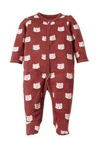 C&A Baby Club baby boxpak met all over print donkerrood/ecru, Donkerrood