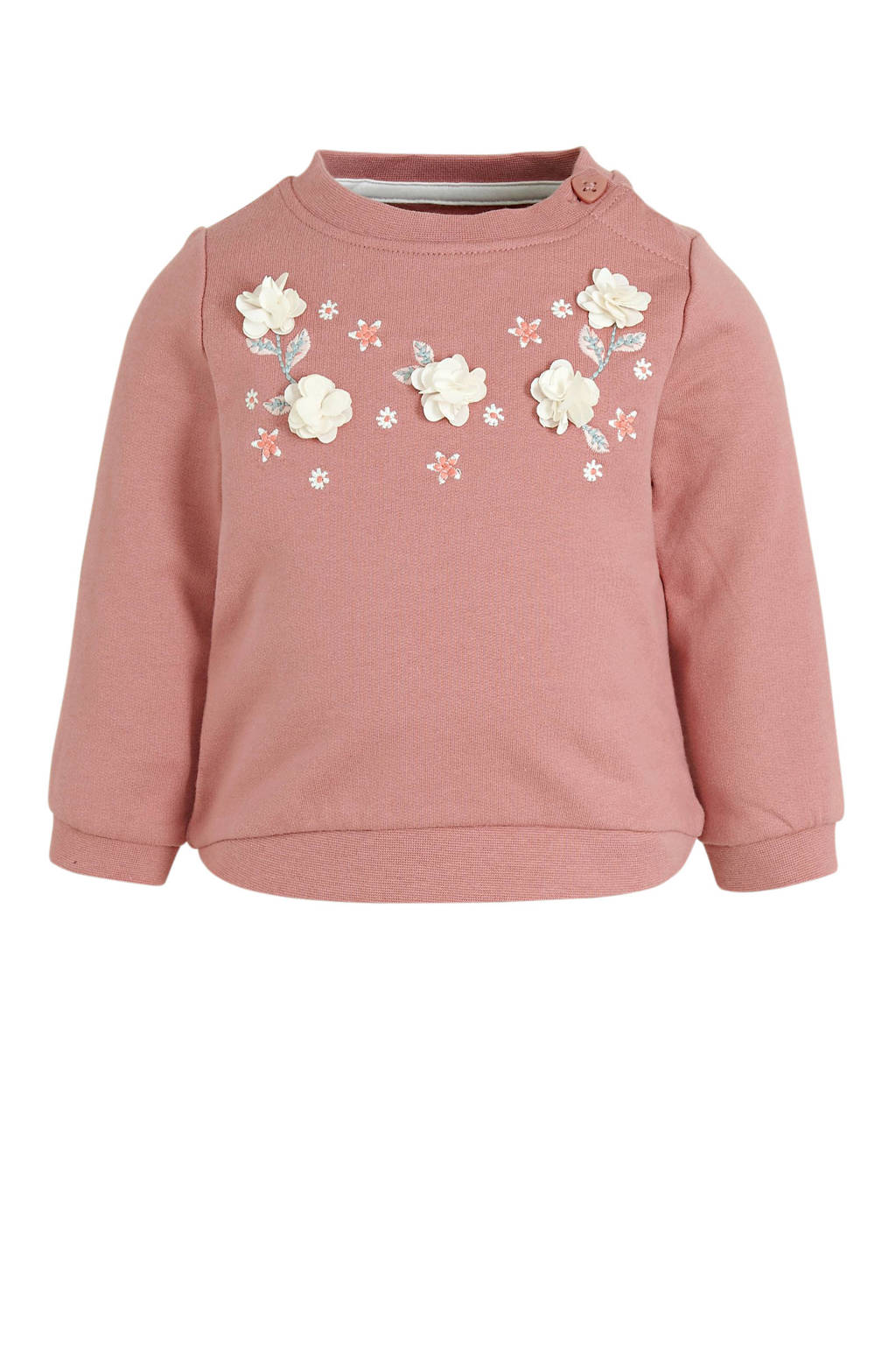 C&A Baby Club baby sweater met 3D applicatie oudroze, Oudroze