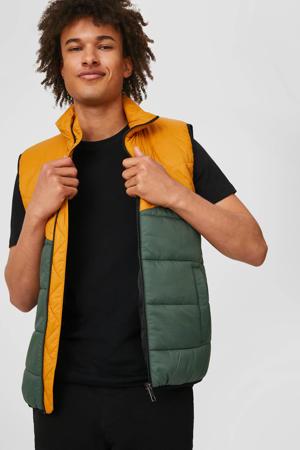 bodywarmer groen/geel