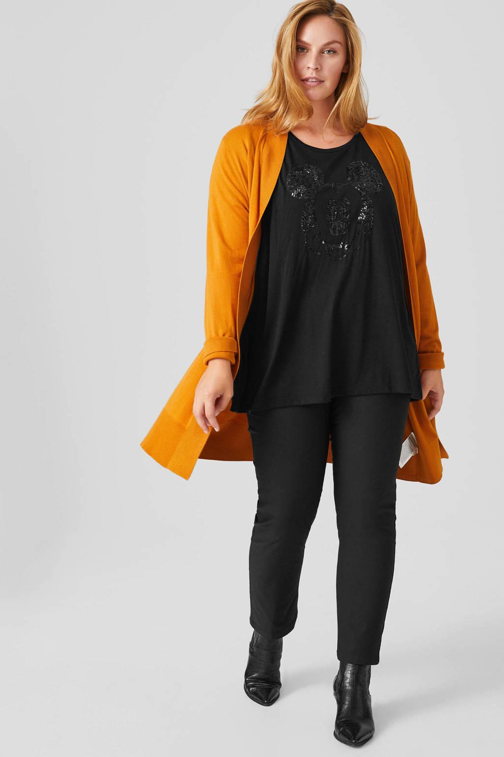 C&A XL Yessica slim fit tregging zwart, Zwart