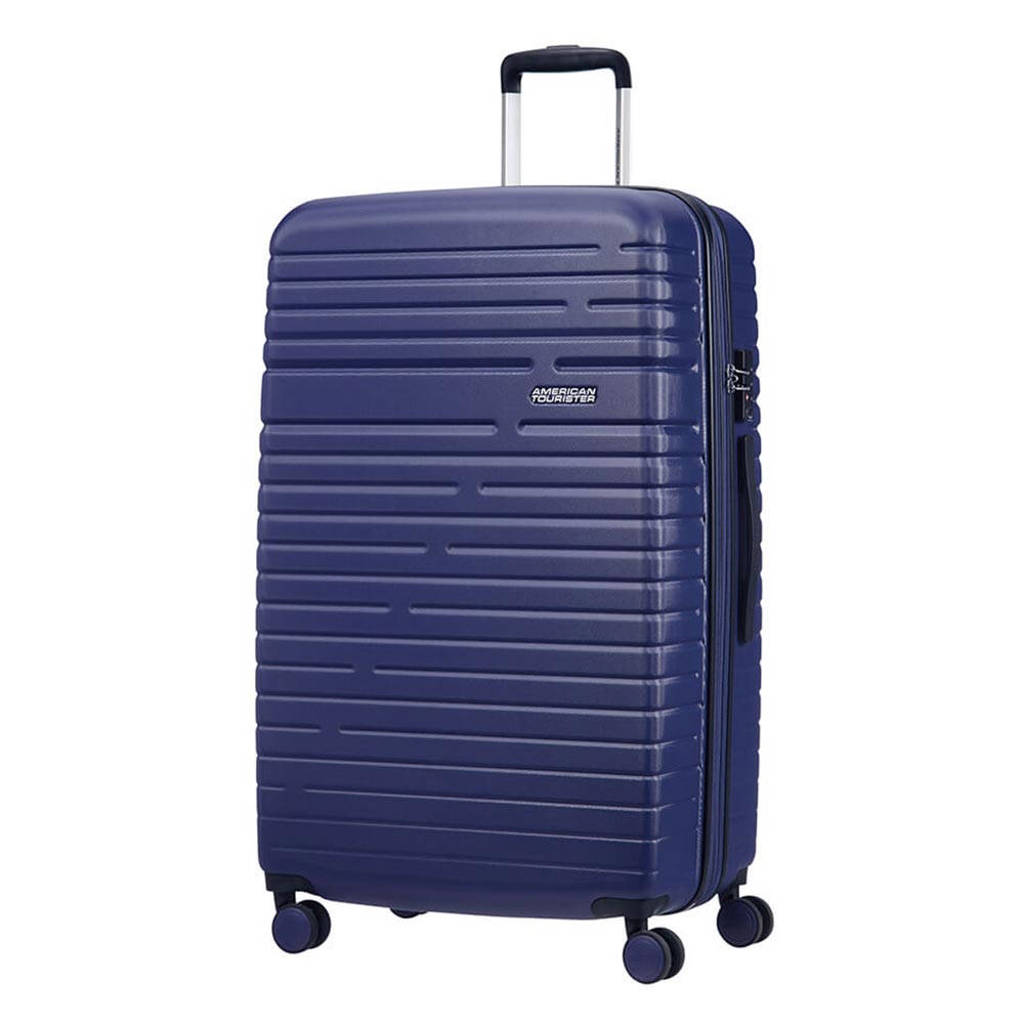 American Tourister  trolley Aero Racer Spinner 79 cm. Expandable blauw, Blauw