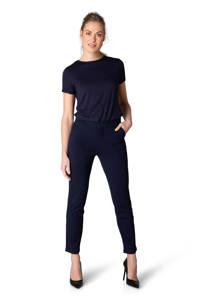 Yest jersey broek Ymke straight fit donkerblauw, Donkerblauw