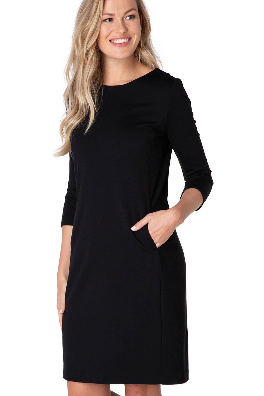 Yest jersey jurk Ylona zwart, Zwart