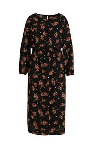 JD Williams gebloemde jurk zwart/multi, Zwart/multi