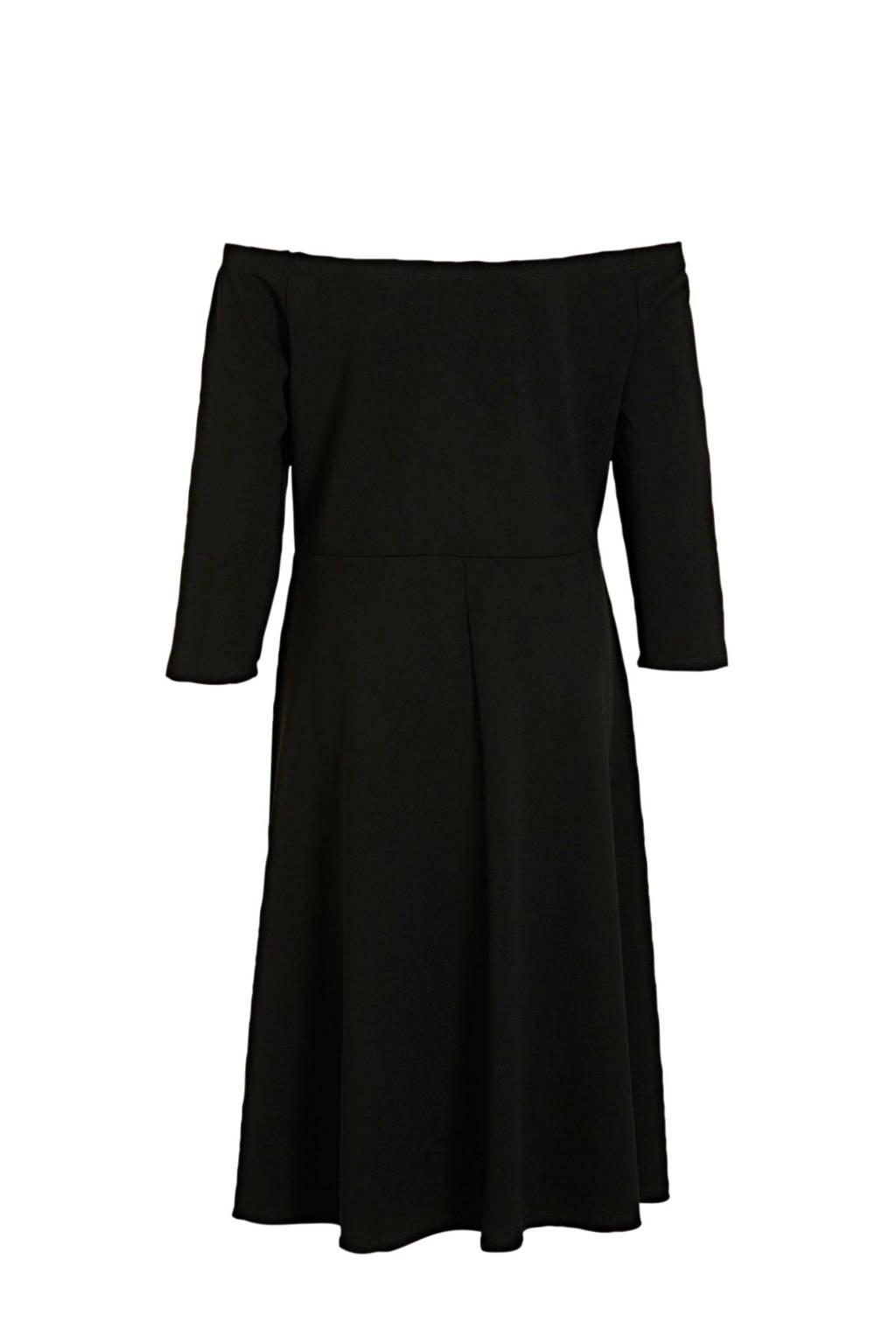 JD Williams off shoulder jurk zwart, Zwart