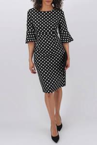 JD Williams jurk met stippen zwart/wit, Zwart/wit