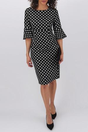 jurk met stippen zwart/wit