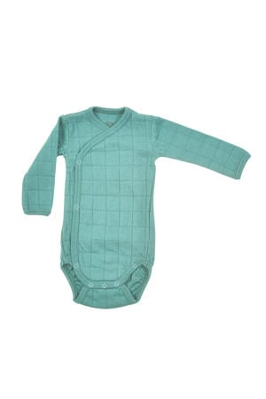 Solid baby romper turquoise