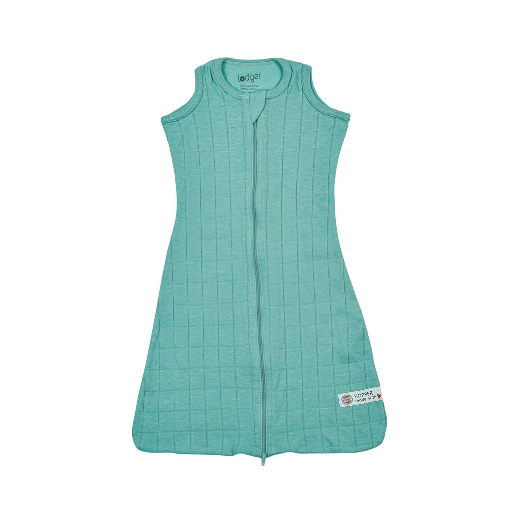 Lodger Solid baby slaapzak zomer sleeveless turquoise, Turquoise