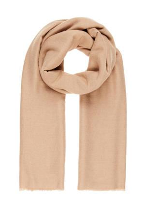 sjaal bruin met franje