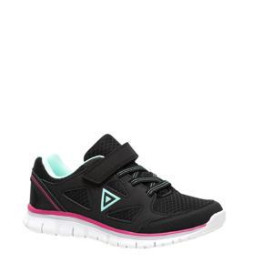 hardloopschoenen zwart/roze/blauw meisjes