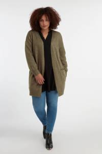 MS Mode vest olijfgroen, Olijfgroen