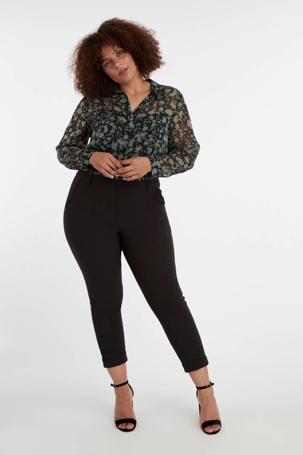 MS Mode skinny broek zwart, Zwart