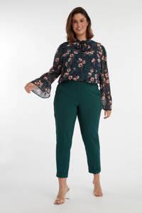 MS Mode skinny broek donkergroen, Donkergroen