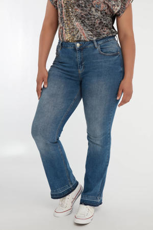high waist flared jeans light denim/dark denim