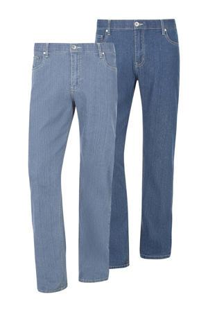 loose fit jeans Soa - set van 2 light blue/dark blue