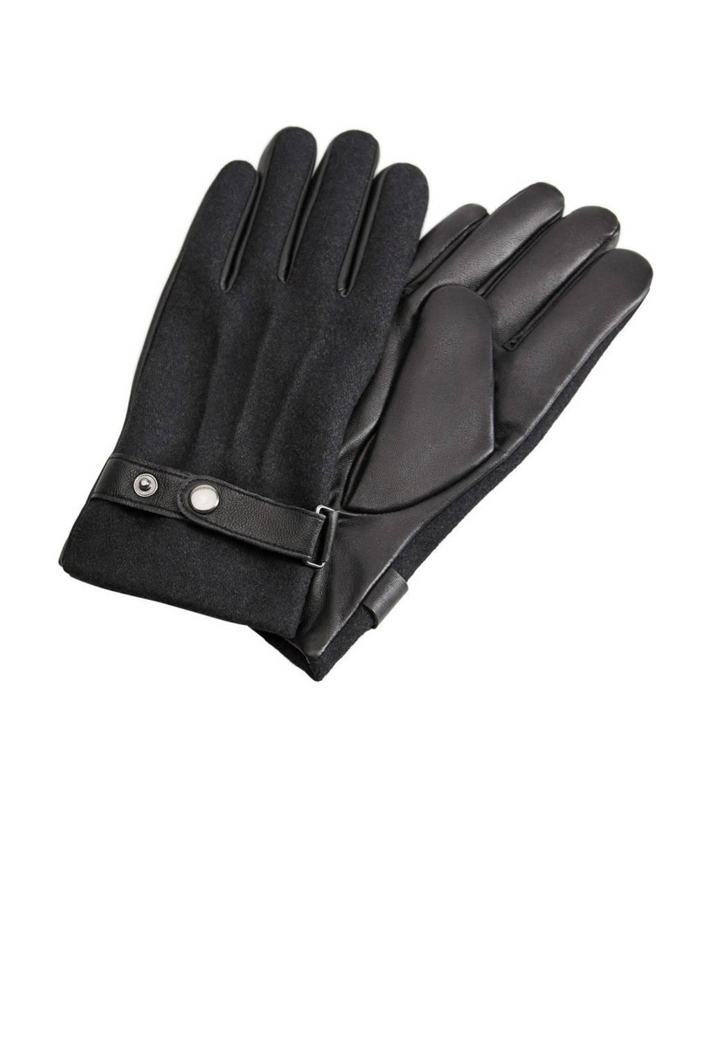 Mango Man leren handschoenen grijs, Grijs