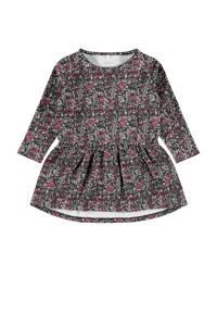 NAME IT MINI jurk Ogille met biologisch katoen grijs/roze/wit, Grijs/roze/wit