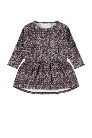 jurk Ogille met biologisch katoen grijs/roze/wit