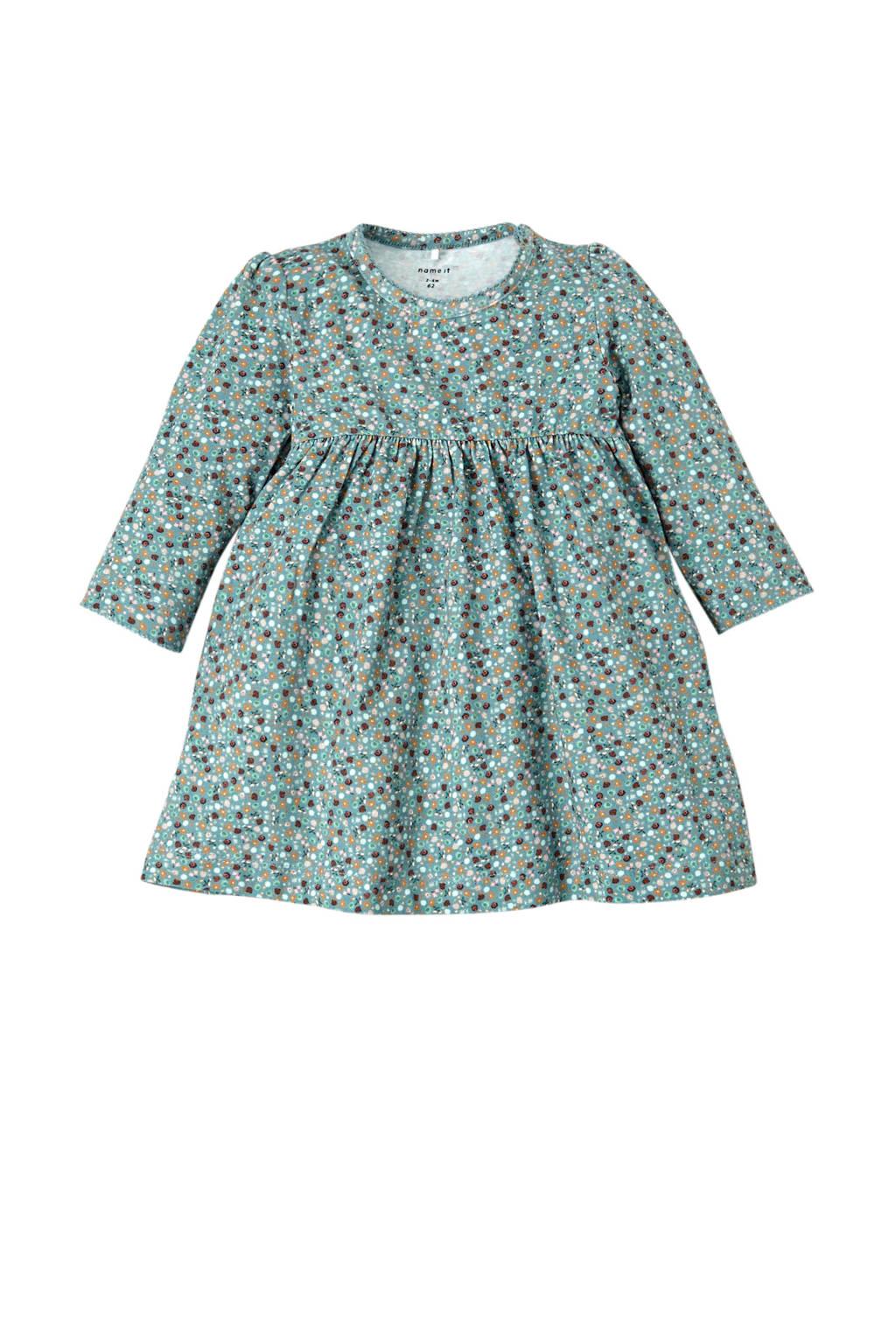 NAME IT BABY jurk Otilia met biologisch katoen mintgroen, Mintgroen