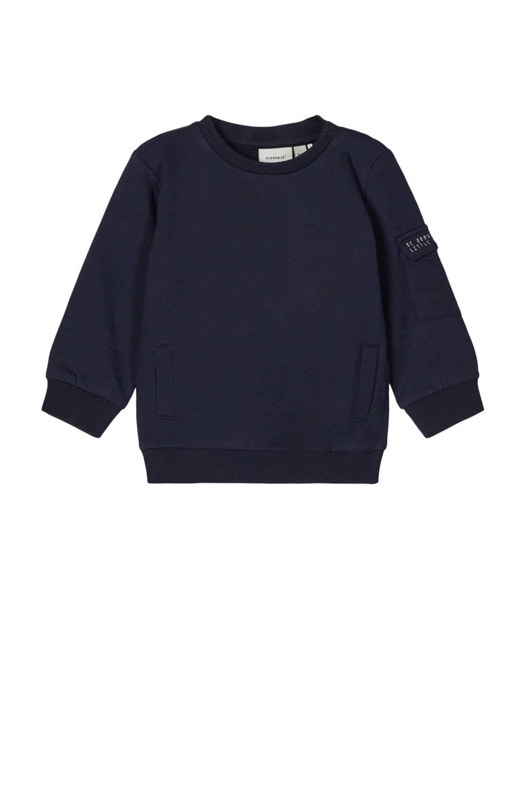 NAME IT BABY baby sweater Ones donkerblauw, Donkerblauw