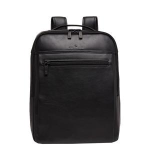 15,6 inch leren business rugzak Nappa x Victor zwart