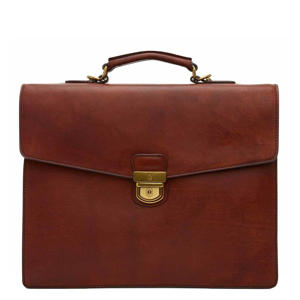 15 inch Dutch Masterpiece laptoptas cognac