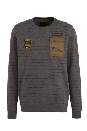 gestreepte sweater grijs/groen
