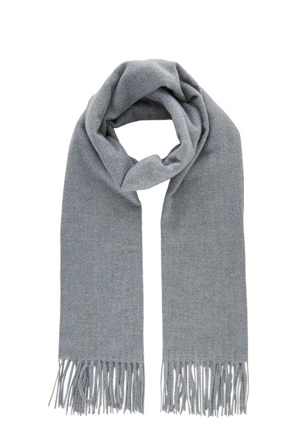 PIECES sjaal met franjes grijs, Grijs