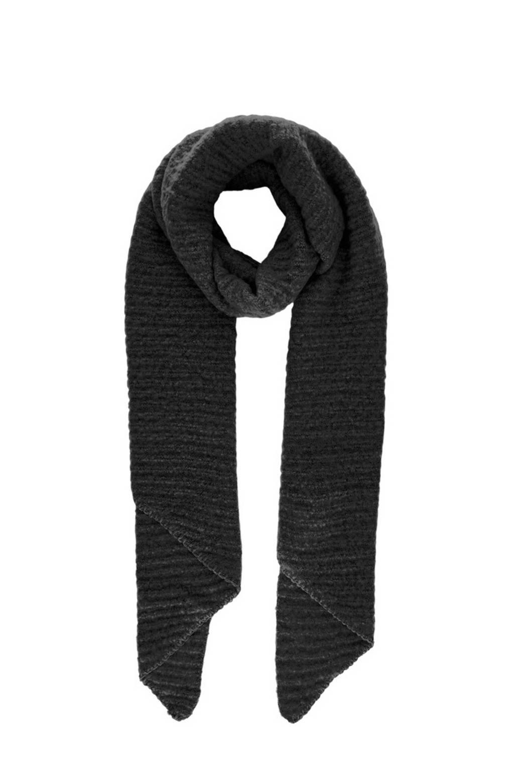PIECES sjaal zwart, Zwart