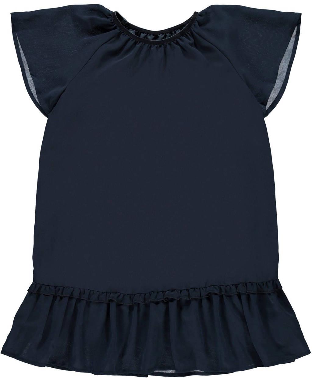 NAME IT KIDS jurk Ritaka van gerecycled polyester donkerblauw, Donkerblauw
