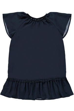 jurk Ritaka van gerecycled polyester donkerblauw