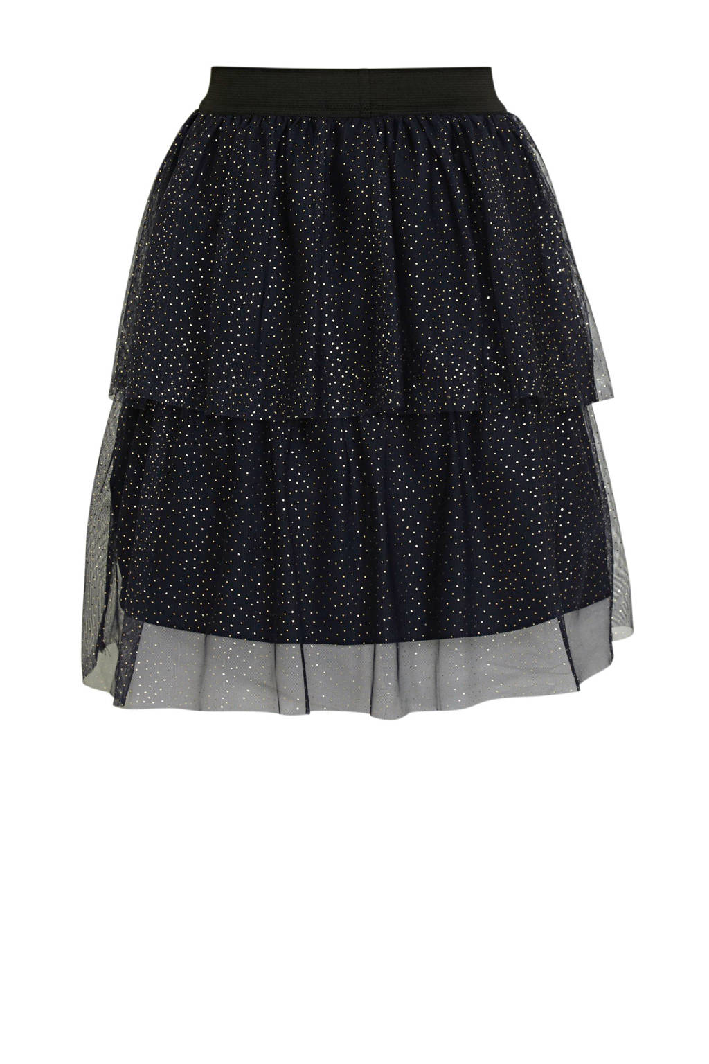NAME IT KIDS rok Ritty van gerecycled polyester donkerblauw, Donkerblauw