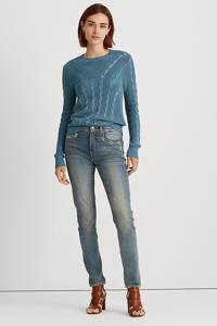 Lauren Ralph Lauren gebreide kabeltrui Venkada provincial blue, Provincial blue