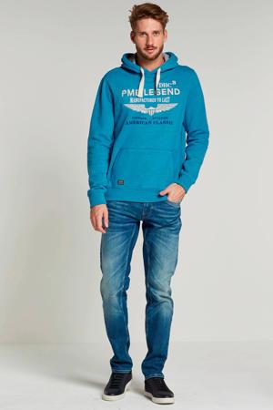 hoodie met logo turquoise