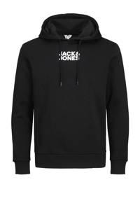JACK & JONES CORE hoodie met logo zwart/grijs, Zwart/grijs