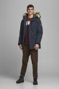 JACK & JONES ORIGINALS parka winterjas donkerblauw, Donkerblauw