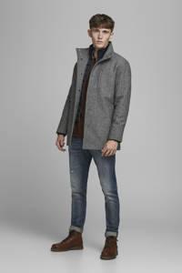 JACK & JONES ORIGINALS jas met wol en visgraat zwart/wit, Zwart/wit