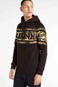 Ballin hoodie met camouflageprint zwart, Zwart