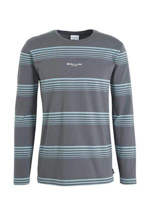 gestreept T-shirt grijs/blauw