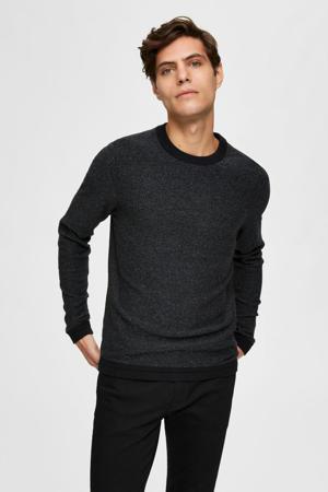 gemêleerde trui Jefferson van biologisch katoen zwart