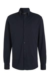 SELECTED HOMME slim fit overhemd met biologisch katoen donkerblauw, Donkerblauw